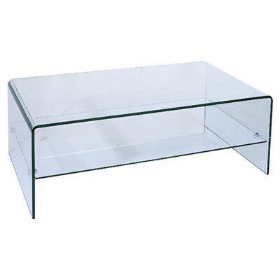 Ryder Coffee Table with Storage Shelf by Beverly Hills Furniture