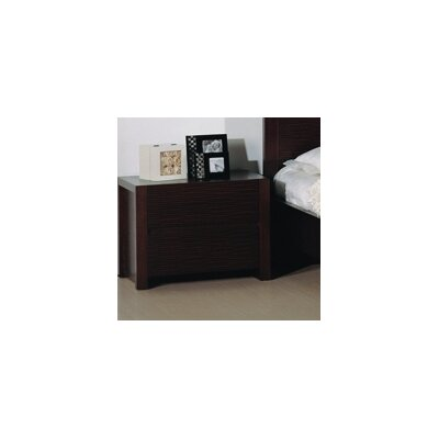 Etch 2 Drawer Nightstand by Beverly Hills Furniture