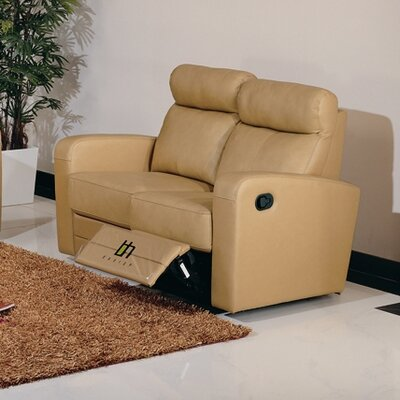Slope Leather Reclining Loveseat by Beverly Hills Furniture