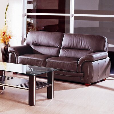 Sienna Leather Sofa by Beverly Hills Furniture