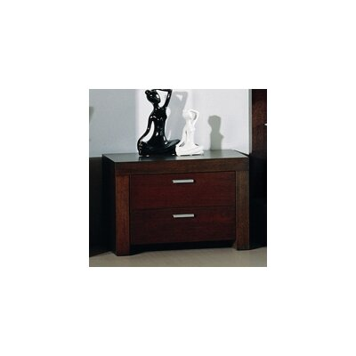 Traxler 2 Drawer Nightstand by Beverly Hills Furniture