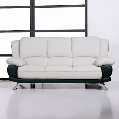 Caelyn Leather Sofa by Beverly Hills Furniture