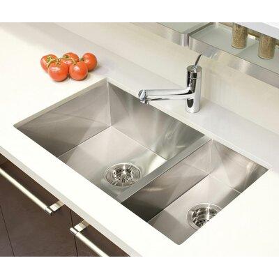 "UrbanEdge 29"" x 17.5"" Undermount Double Bowl Kitchen Sink Product Photo"