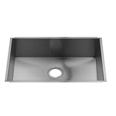 "UrbanEdge 28"" x 17.5"" Undermount Single Bowl Kitchen Sink Product Photo"