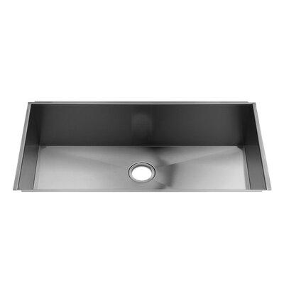 "Julien UrbanEdge 37"" x 19.5"" Undermount Single Bowl Kitchen Sink"