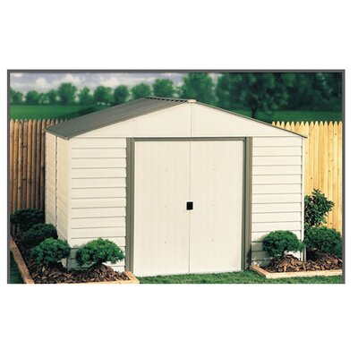 Milford 10 Ft. W x 8 Ft. D Vinyl Coated Steel Storage Shed by Arrow ...