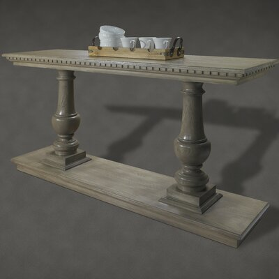 French Restoration Small Provence Dual Baluster Console Table by A&E Wood Designs