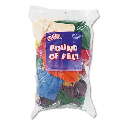 Chenille Kraft Company Pound of Felt, Assorted Size/Shape Remnants, Multicolored