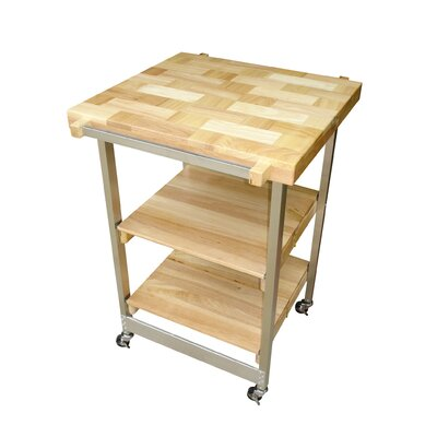 Kitchen Cart with Wood Top Product Photo