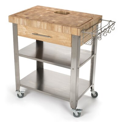 Pro Stadium Kitchen Cart with Butcher Block Top Product Photo