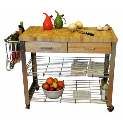 Kitchen Island with Wood Top Product Photo