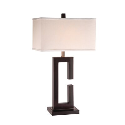 """Anthony California Metal 28"""" H Table Lamp with Rectangular Shade"""