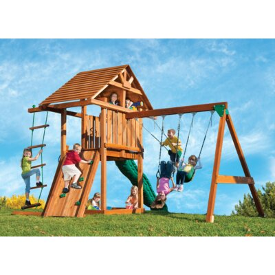 Kids Creation Redwood Circus 3 Swing Set Product Photo