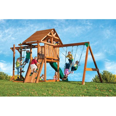 Redwood Circus 4 Swing Set Product Photo