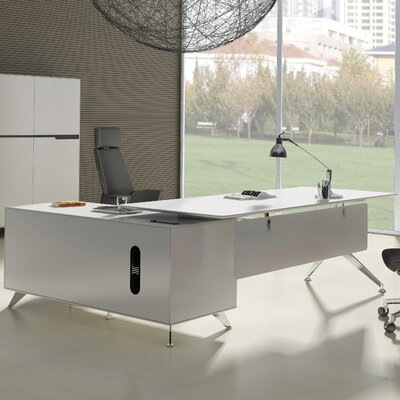 Jesper Office 400 Collection Executive Desk with Return Cabinet