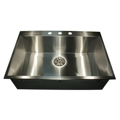 "33"" x 22"" Self Rimming Single Bowl Kitchen Sink Product Photo"