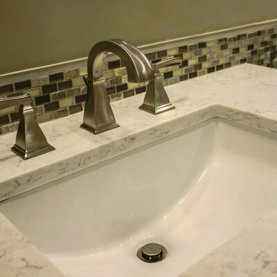 Vitreous China Rectangular Undercounter Bathroom Sink Product Photo