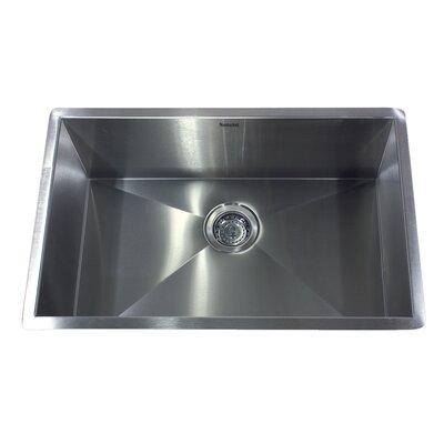 "28"" x 18"" Zero Radius Large Single Bowl Undermount Kitchen Sink Product Photo"