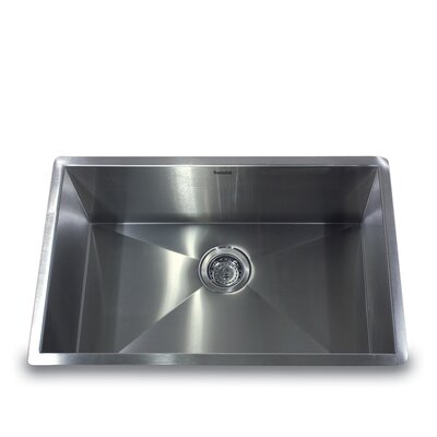 "Nantucket Sinks 28"" x 18"" Zero Radius Large Single Bowl Undermount Kitchen Sink"