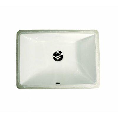 Rectangular Ceramic Undermount Bathroom Sink Product Photo