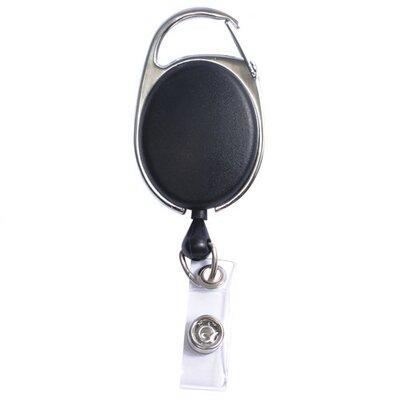 Baumgartens Clip Card Reels, Attachable to Belt Loop/Belt Strap, Black
