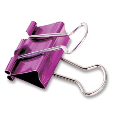 "Baumgartens Binder Clip, Medium, 1"", 5/PK, Metallic Assorted"