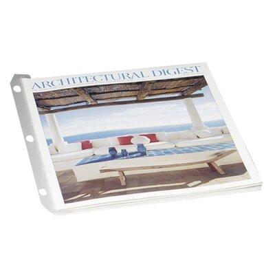 "Baumgartens 3 Ring Catalog/Magazine Organizer, 9-1/2""x11-1/2"", 12 per Pack, Clear"