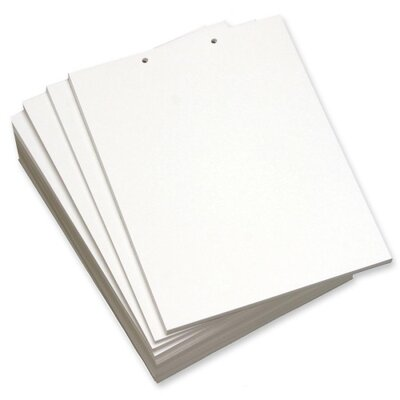 """Domtar Custom Cut Sheets, 2-Hole Top, 8-1/2""""x11"""", 5 RM/CT, White"""