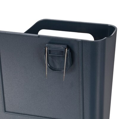 Officemate International Corp VerticalMate Cubicle Wall File Pocket, Plastic, 11 1/2w x 2d x 9h, Slate Gray