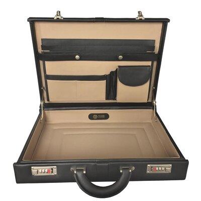 Winn International Top Grain Extended Edge Leather Attache Case