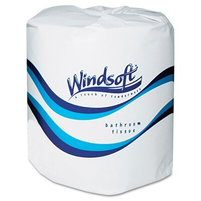 Windsoft Facial Quality 2-Ply Toilet Paper - 400 Sheets per Roll / 24 Rolls
