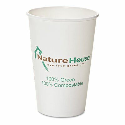 Savannah Supplies Inc. Naturehouse Compostable Paper/Pla Cup, 50/Pack