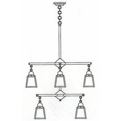 Arroyo Craftsman A-Line 5 Light Chandelier