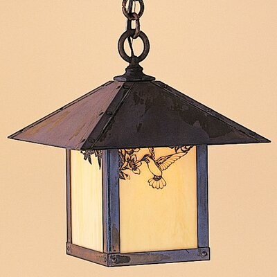Arroyo Craftsman Evergreen 1 Light Outdoor Hanging Lantern