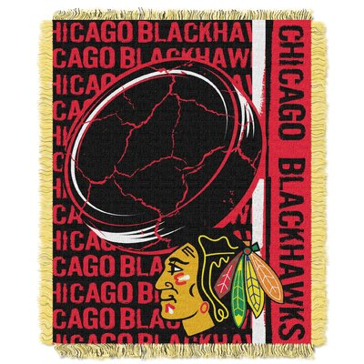 NHL Blackhawks Double Play Woven Throw by Northwest Co.