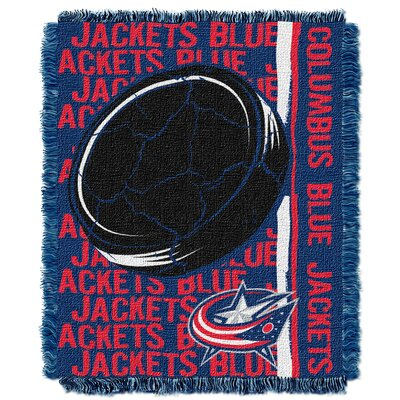 NHL Blue Jackets Double Play Woven Throw by Northwest Co.