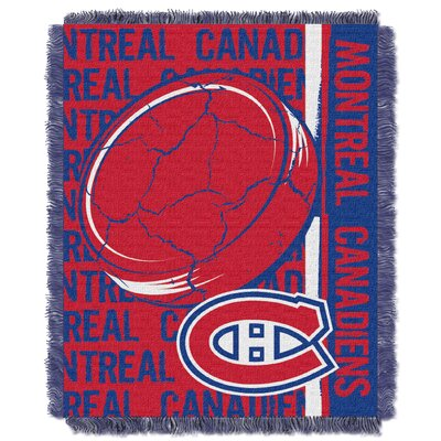 NHL Canadiens Double Play Woven Throw by Northwest Co.