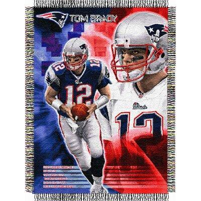 NFL Tom Brady Player Throw Blanket by Northwest Co.