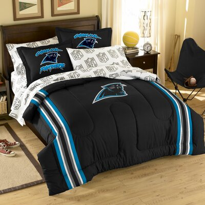 NFL Carolina Panthers 7 Piece Full Bed in a Bag Set by Northwest Co.