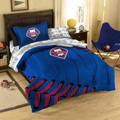 MLB Philadelphia Phillies 5 Piece Twin Bed in a Bag Set by Northwest Co.