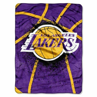 NBA Los Angeles Lakers Plush Throw by Northwest Co.
