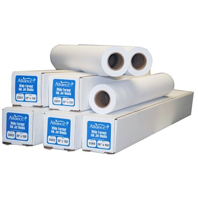 "TST Impreso 36"" x 300' Ink Jet Bond Engineering Rolls (2 Rolls)"