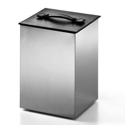 Complements Secioni Waste Basket with Lid by WS Bath Collections