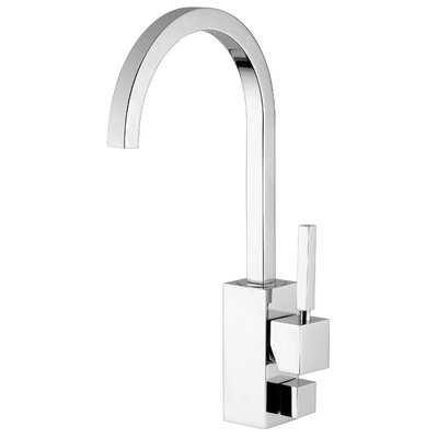 Domino One Handle Single Hole Kitchen Faucet with High Swivel Spout and Dish-Washer Connection ...