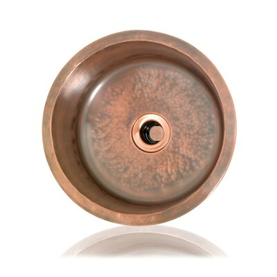 "Cuisine 13.5"" x 13.5"" Rosalie Round Hand-Hammered Bar Sink Product Photo"