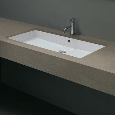 Ceramica Valdama Cubo Undermount Bathroom Sink Product Photo