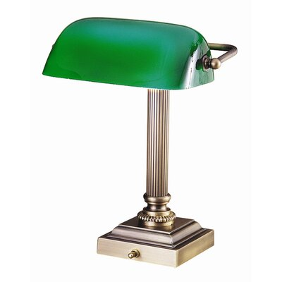"""House of Troy Shelburne 13.25"""" H Table Lamp with Novelty Shade"""