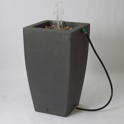 Algreen Madison 49 Gallon Rain Barrel with Fountain Kit