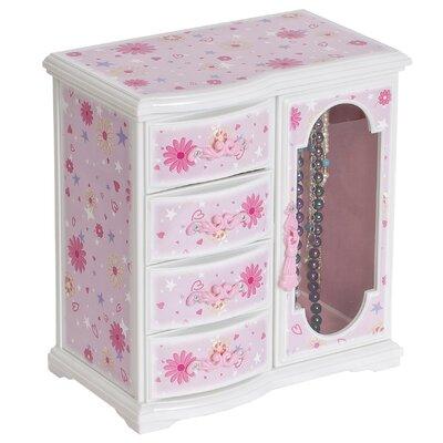 Hyacinth Girl's Glittery Upright Musical Ballerina Jewelry Box by Mele & Co.