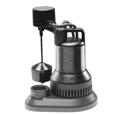 48 GPM Vertical Float Switch Thermoplastic Sump Pump by WAYNE